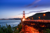 Golden Gate Bridge of San Francisco at the time of Sunset.