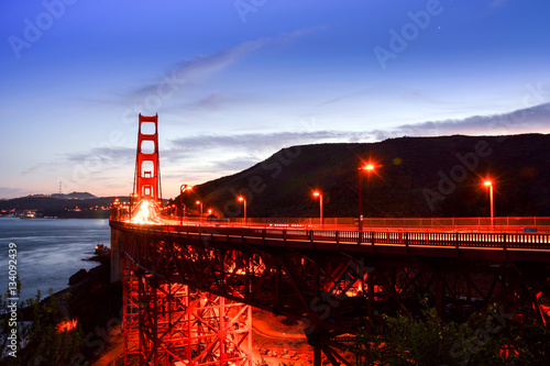 Poster Golden Gate Bridge of San Francisco at the time of Sunset.
