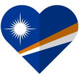 Marshall Islands flat heart flag