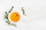 Thyme tea, top view - 134102450