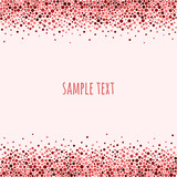 Dotted pattern with space for text. Spots or dots of various size. Vector abstract background.
