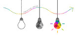 Developing creativity concept with colorful bulb in the end - 134112488