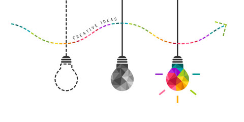 Developing creativity concept with colorful bulb in the end © lvnl