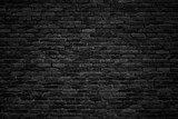 black brick wall, dark background for design - 134115811