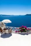 Santorini, Grecja, Oia - Luksusowy Resort z tarasem i widokiem na morze