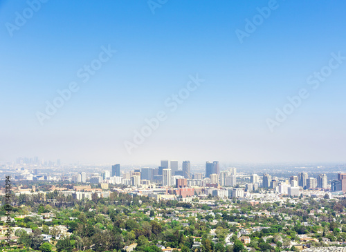 View of Los Angeles city Poster