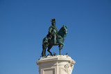 Statue of D. Jose on the Commerce square (Praca do Comercio) in Lisbon, Portugal