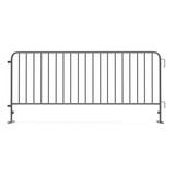Steel barrier isolated on white. Side view. 3D illustration - 134145016