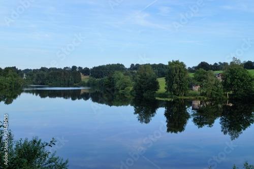 Poster Lac de Robertville en Belgique