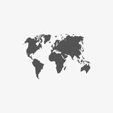 world map icon stock vector illustration flat design