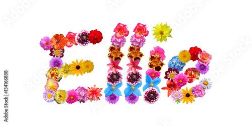 Flower Name Ellie Poster