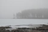Smoky fog landscape