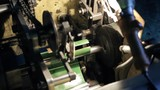 On the conveyor at the factory made a long cylindrical piece. The lathe department has a complex machine that is worn on the pin tip and sent for further processing. Screws, gears, chains operate in