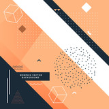 stylish memphis background with abstract shapes - 134194461