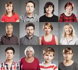 Gruppe von Menschen, Porträt Collage aus zwölf einzelnen Bildern - 134194665