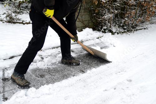 canvas print picture Schnee räumen