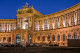 Vienna, Austria, Hofburg imperial palace in the night