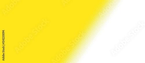 Żółty obszar z przekątną przejścia do bieli