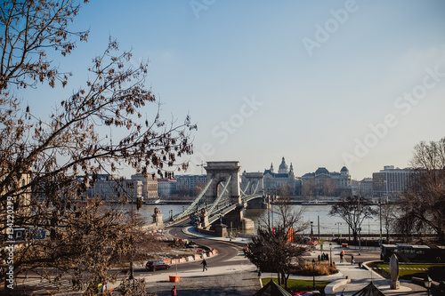 Poster budapest hungary city europe view