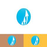 arrow icon logo in ellipse
