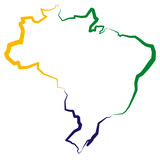 Fototapety Brazylia - mapa
