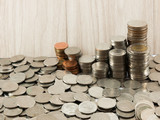 Coin stack (Baht)