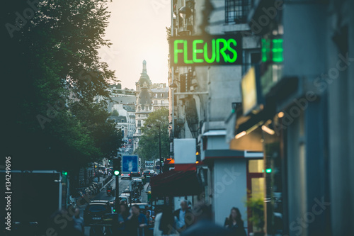 Fototapeta Evening Light in the Streets - Paris