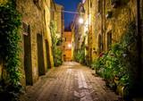 Pienza by night, Tuscany