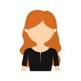 character young woman black shirt vector illustration eps 10