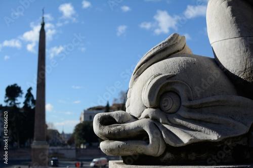 Poster Monumenti di piazza del popolo, Roma