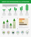 eco info graphic illustration
