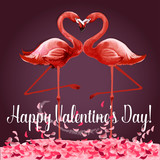 Valentine Day greeting card or poster design