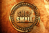 shop small, 3D rendering, grunge metal stamp