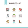 shopping simple icon set