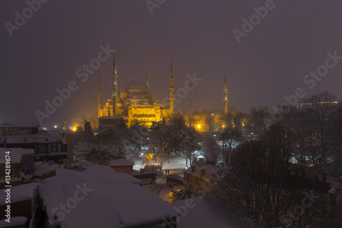 Poster Istanbul snow and winter.