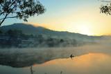 village in mist