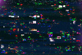 Digital tv damage, television broadcast glitch - 134296438