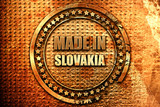 Made in slovakia, 3D rendering, grunge metal stamp