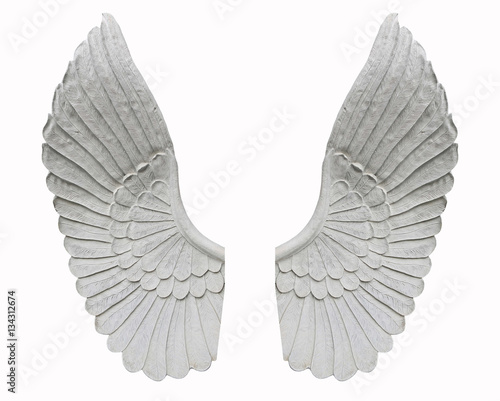 angel wing isolated on white background - 134312674