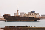 Abandoned Metal Rusty Ship