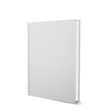 Vector book template, upright, realistic design, isolated on white - 134322694