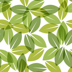 Color of the year 2017. Greenery beautiful trendy seamless pattern. Vector illustration
