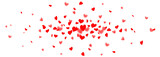 Fototapety Rotes Herz Konfetti fliegend