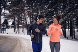 Winter fitness session