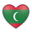 Maldives heart