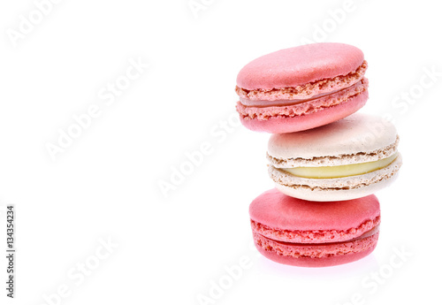 Foto op Aluminium Macarons Macarons on white background