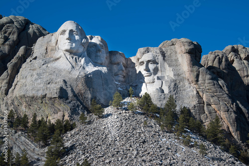 Poster Mount Rushmore Memorial Monument in Black Hills of South Dakota