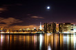 Night panorama of midtown New York City