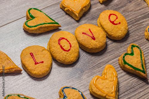 Poster Печенье в виде сердца