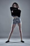 Street dancer studio shot